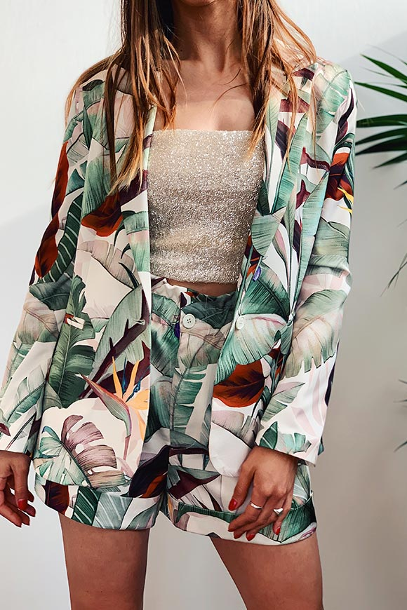 Vicolo - Satin jacket jungle fantasy