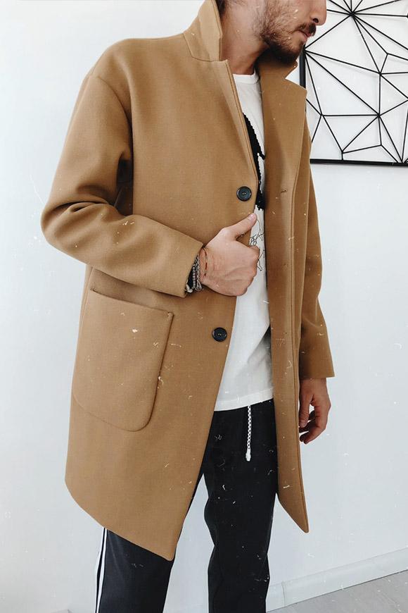 Berna Cappotto cammello con tasche ampie Calibro Shop