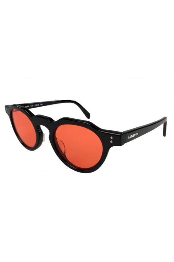 Leziff - California Red Black Glasses