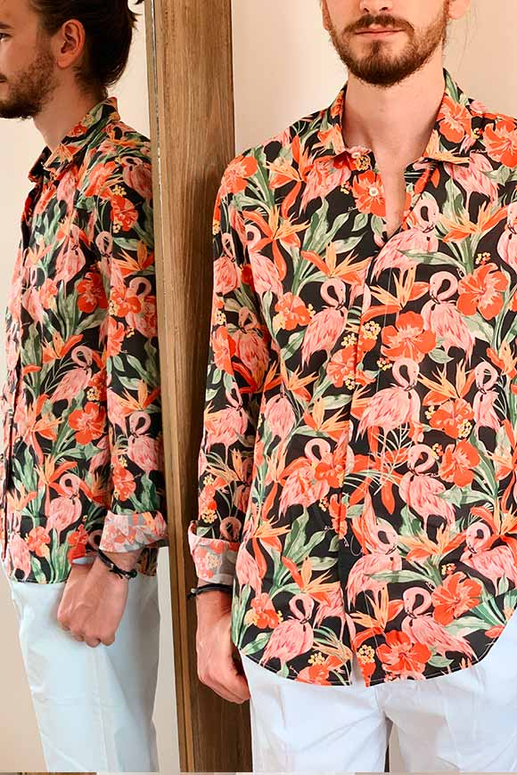 Gianni Lupo - Flamingo patterned shirt