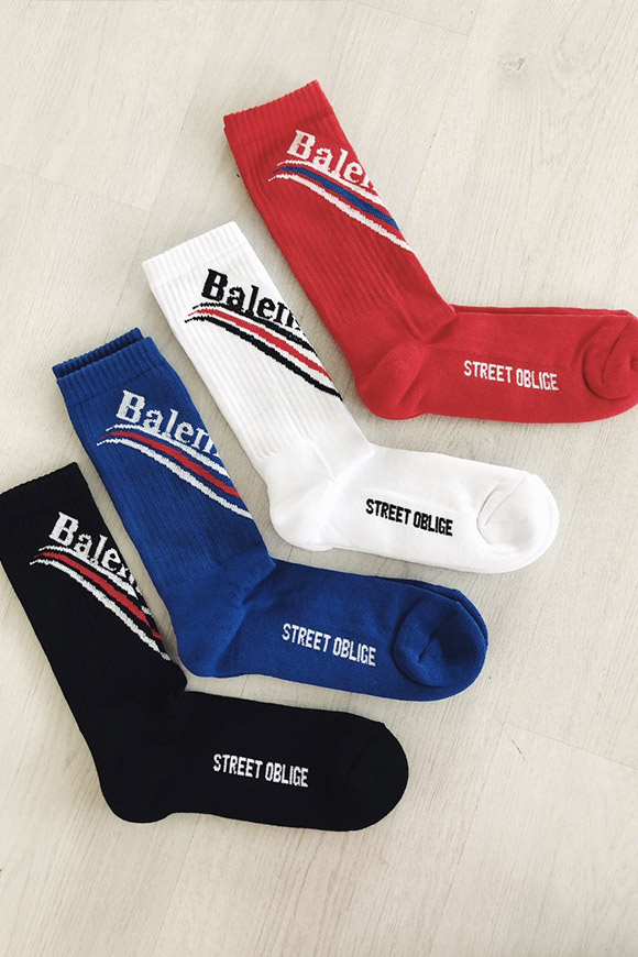 Balements - Blue terry socks with logo