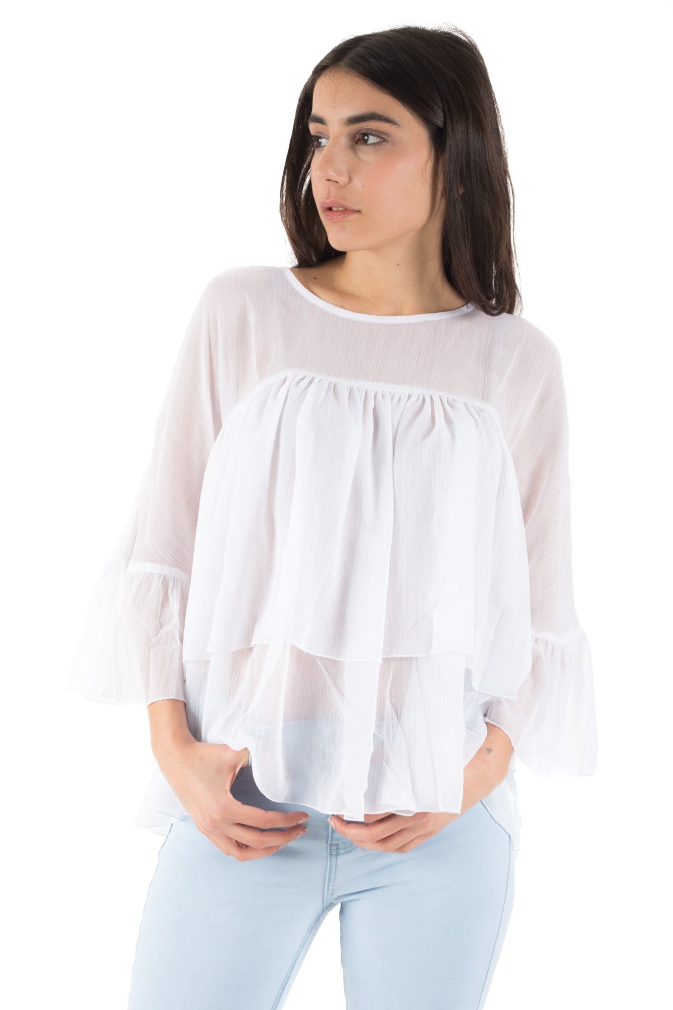 Minimum - Long sleeve top with frill