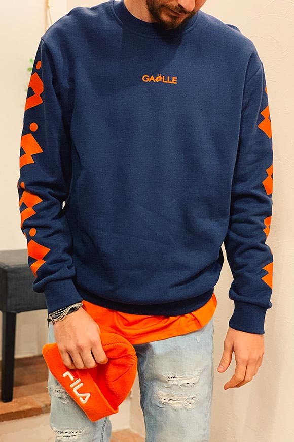 Gaelle - Blue Lotto collaboration sweatshirt
