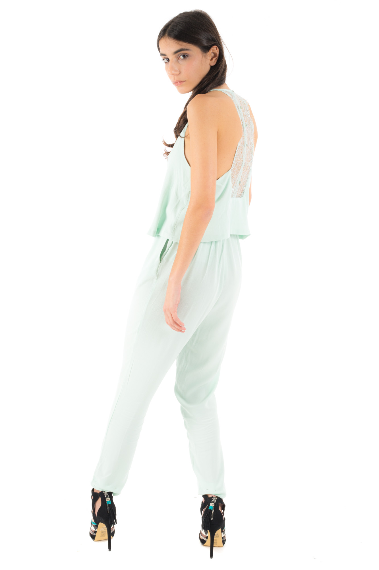 Minimum - Jumpsuit with back lace and buttons