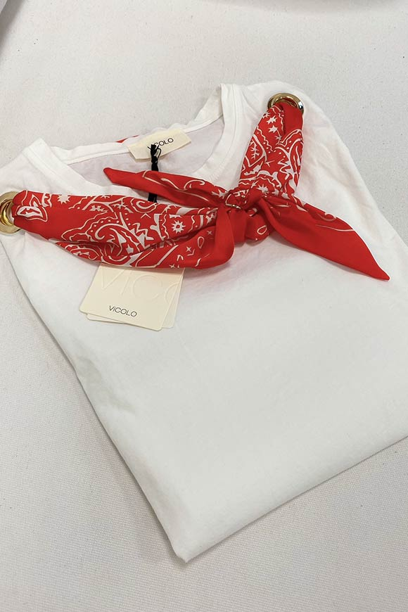 Vicolo - T shirt with knot scarf n.18