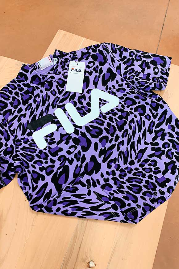 Fila - Purple spotted t shirt with logo