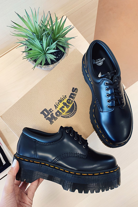 Dr Martens - Black lace-up shoes Quuad Platform