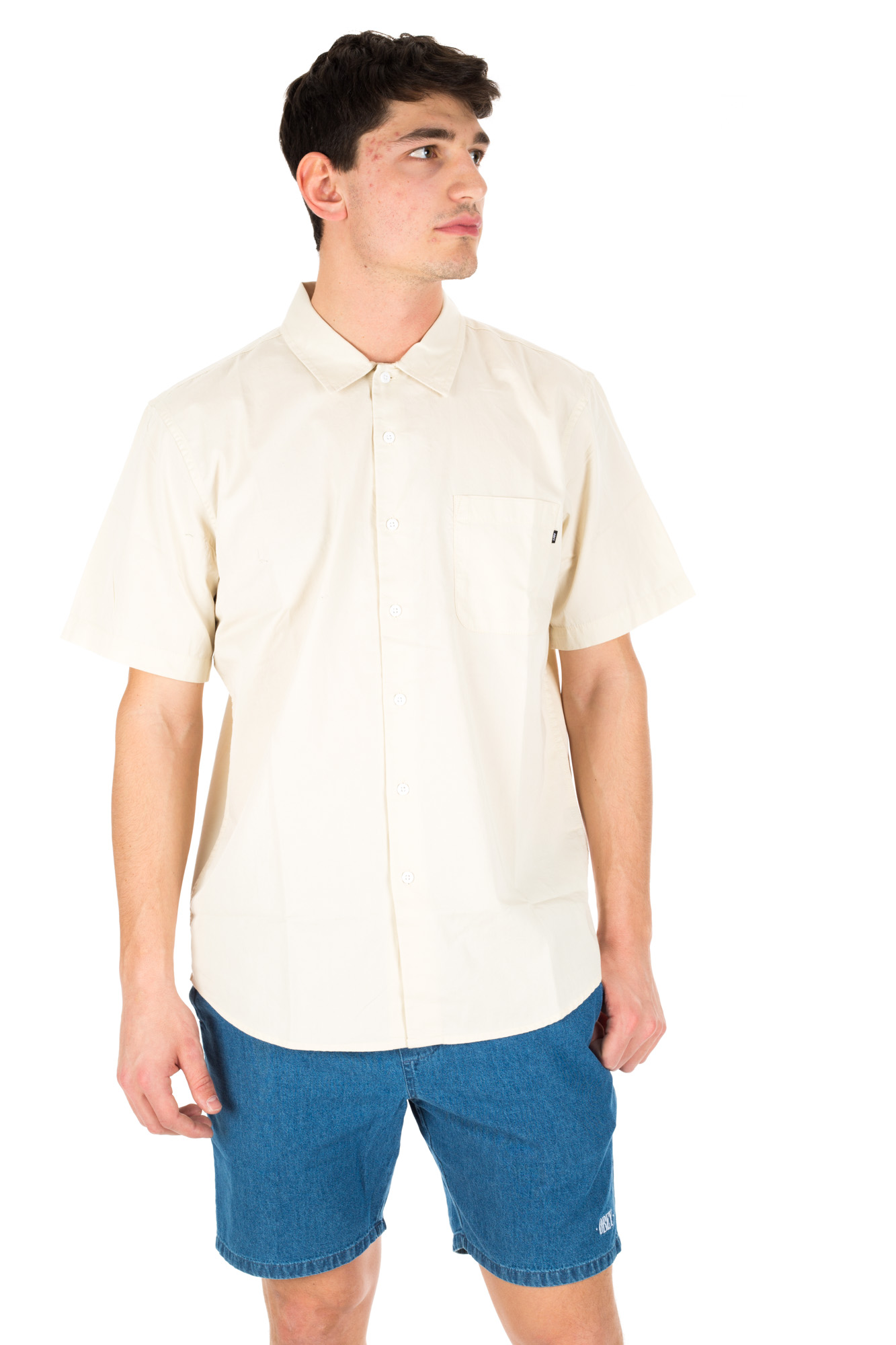 Obey - Cream Shirt with embroidery