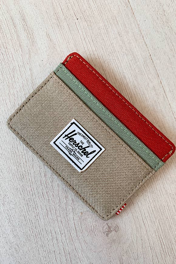 Herschel - Beige card holder bag