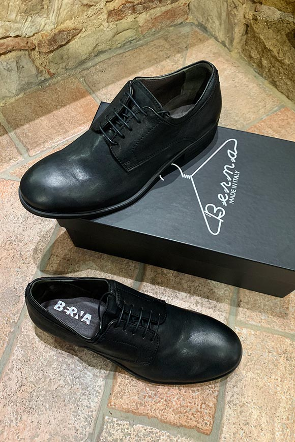 Berna - Black leather lace-up shoes