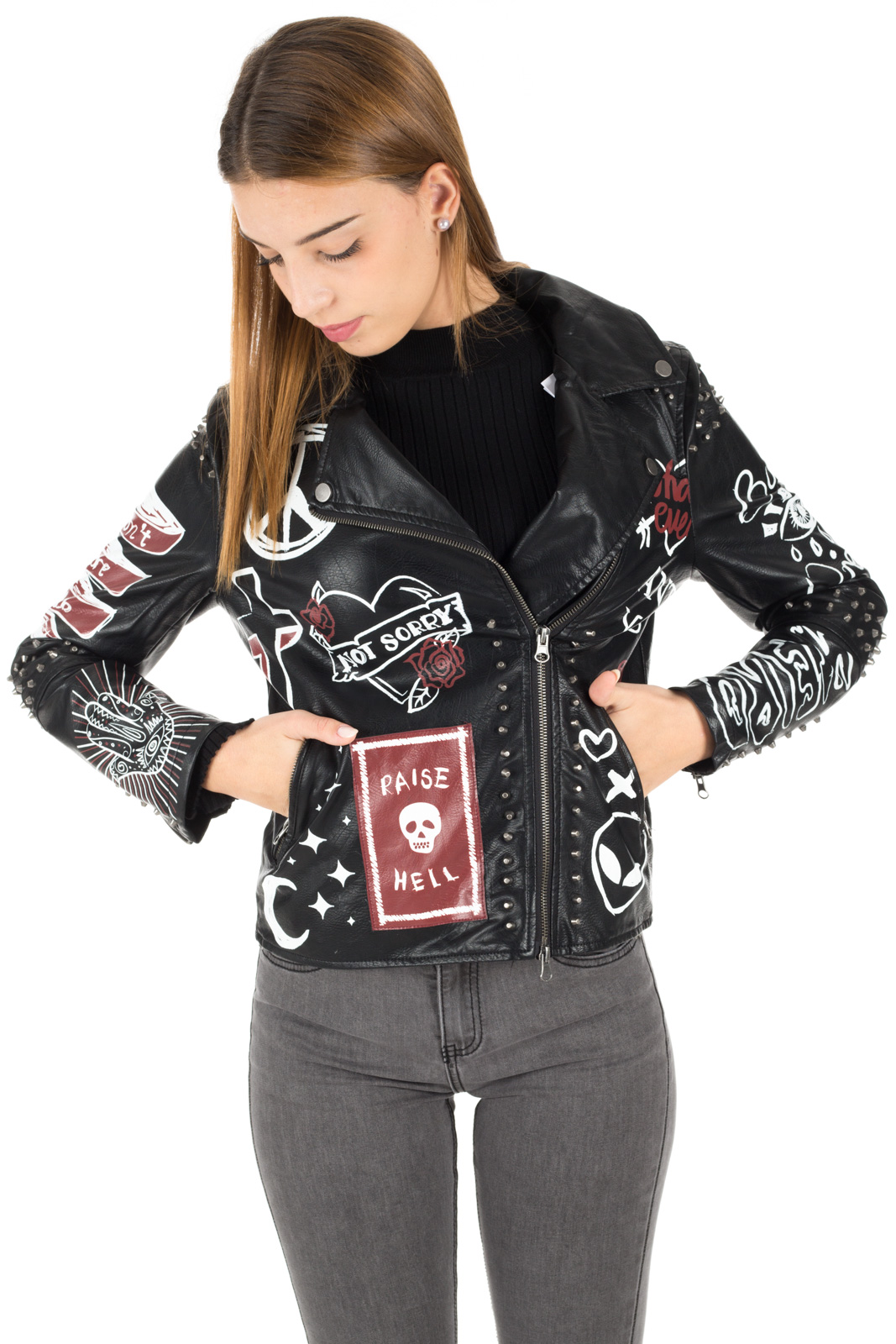 Glamorous - Jacket with graffiti