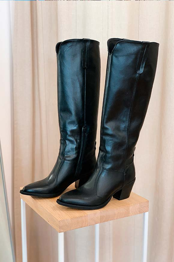 Ovyé - Black high Texan boots