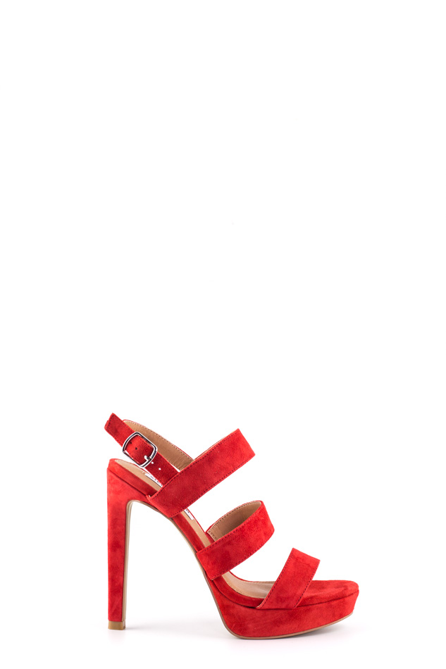 Steve Madden - Red sandals with bands Glam