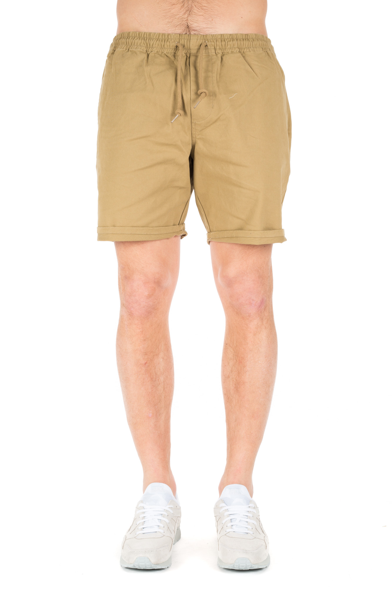 Obey - Elasticated waistband shorts Beige