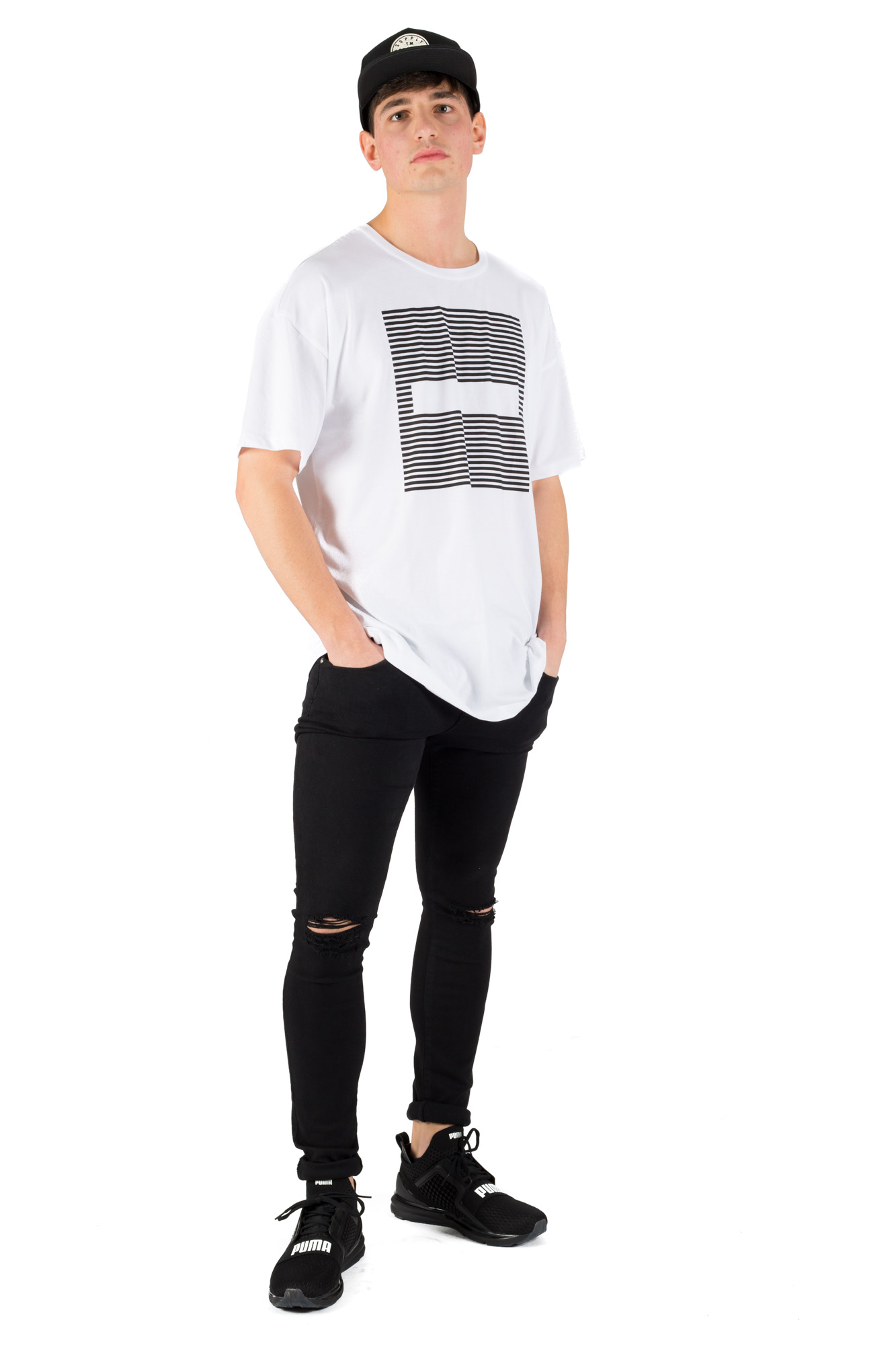 Dr. Denim - Unisex white t-shirt with print
