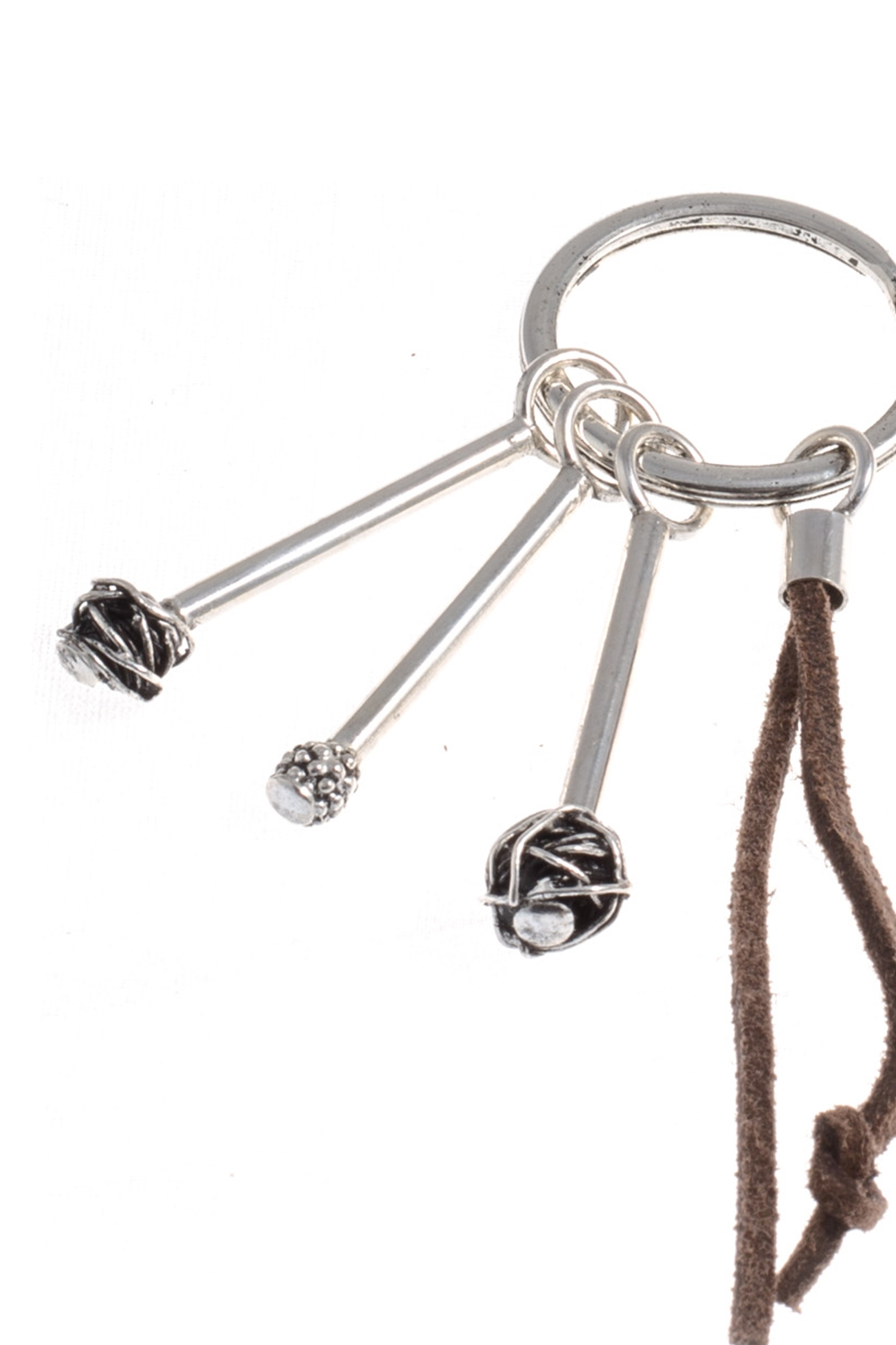 Giacomo Burroni - Silver keyrings with leather