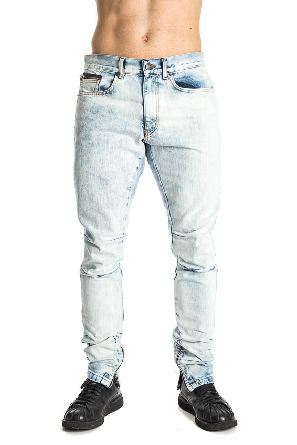 Paura - Biker jeans with Agostino zip