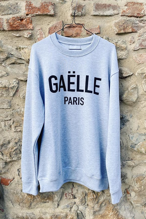 Gaelle - Gray brushed sweatshirt with black logo
