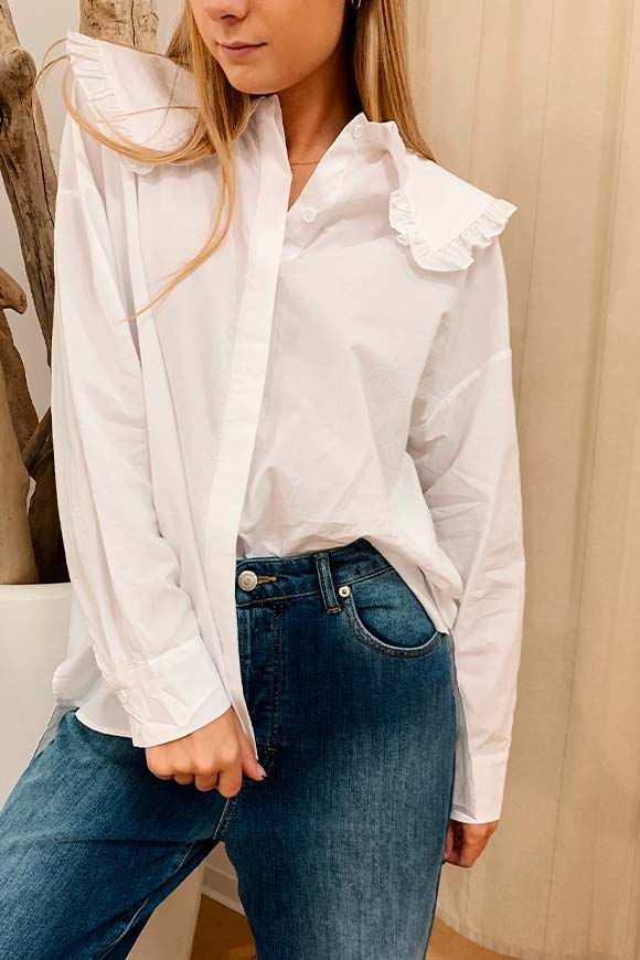 Glamorous - White over shirt with collar