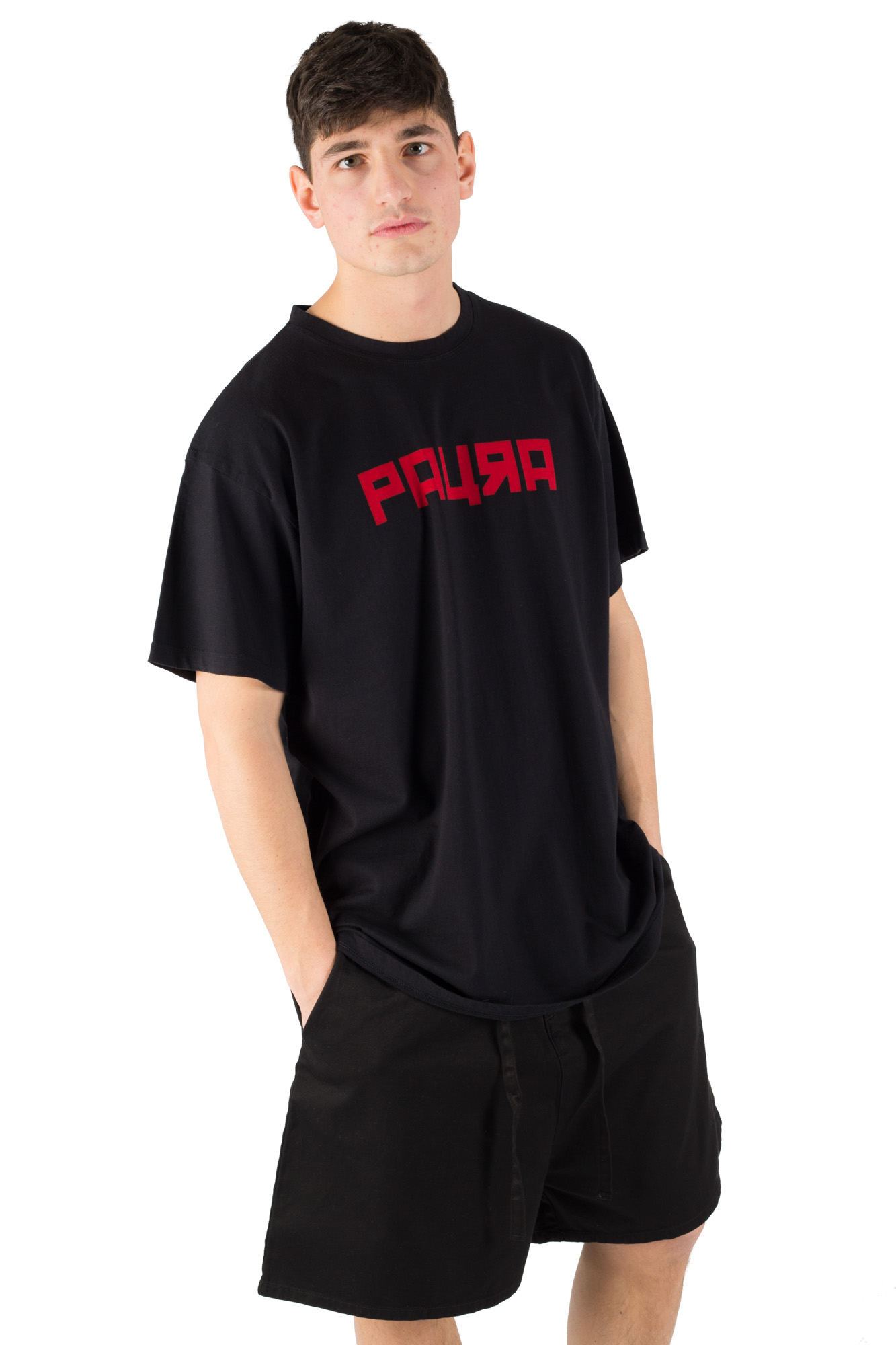 Paura - T-shirt oversize black college