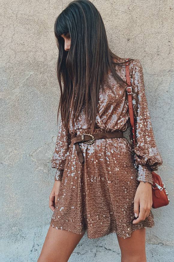 Aniye By - Lucy dress in caramel sequins
