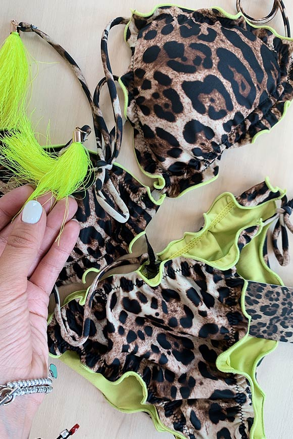 4Giveness - Leopard print triangle costume