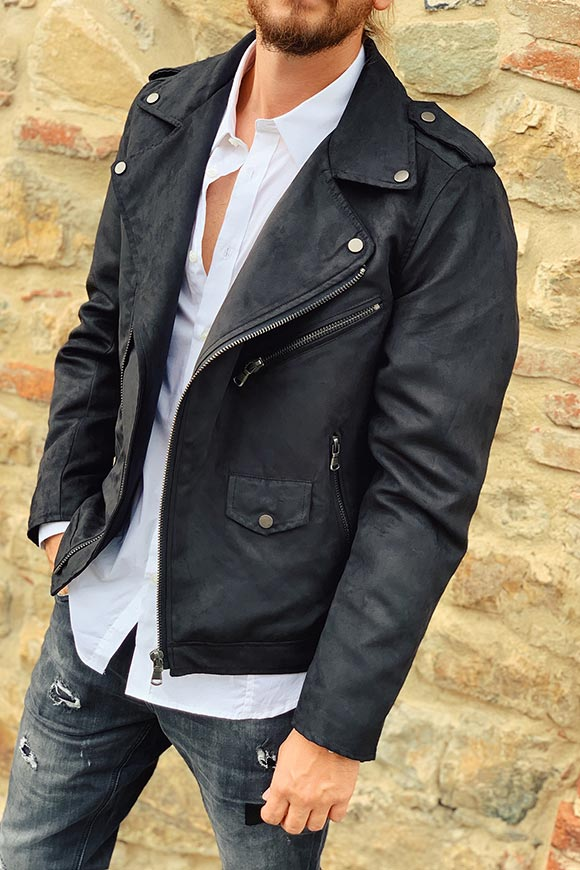 Gianni Lupo - Black suede leather jacket