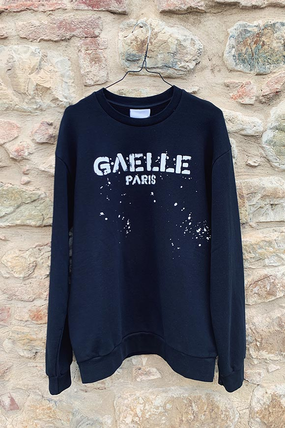 Gaelle - Black sweatshirt with spray logo
