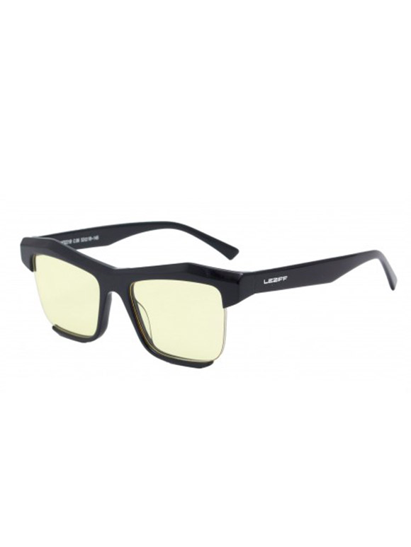 Leziff - Florida Yellow Black Glasses