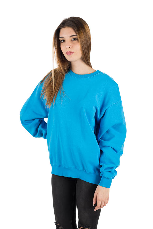 White - Blue Irritant Print Sweatshirt