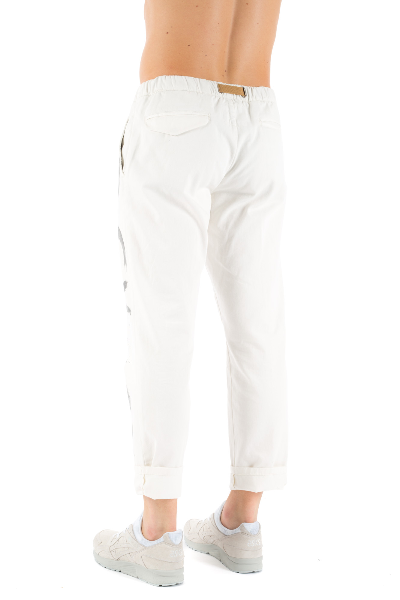 White Sand - Painted baggy trousers