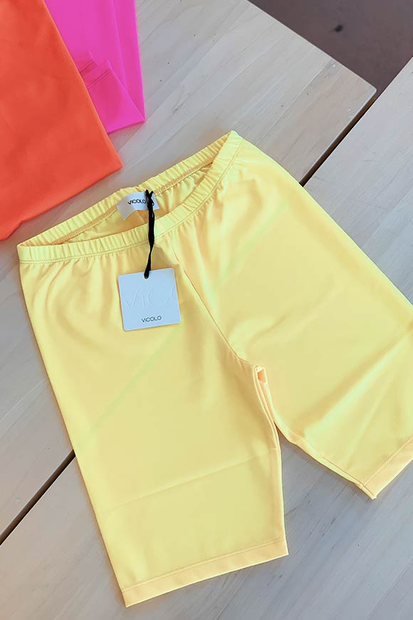 Vicolo - Yellow cyclist leggings