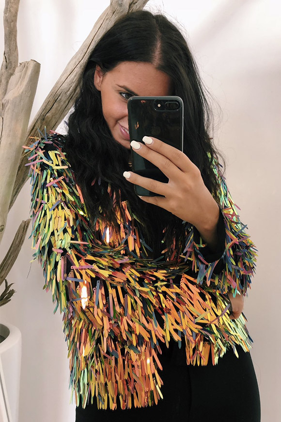 Calibro Shop - Jacket with sequins fringes
