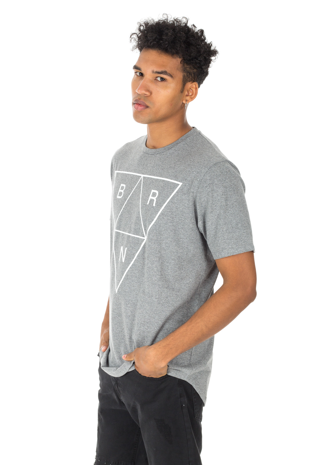 Berna - Gray t-shirt with white logo