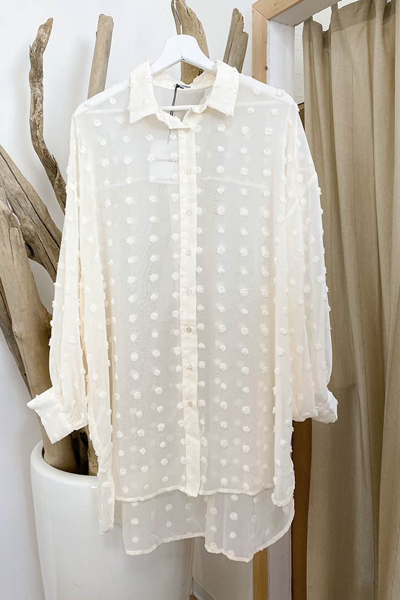 Glamorous - Oversized butter shirt with polka dots