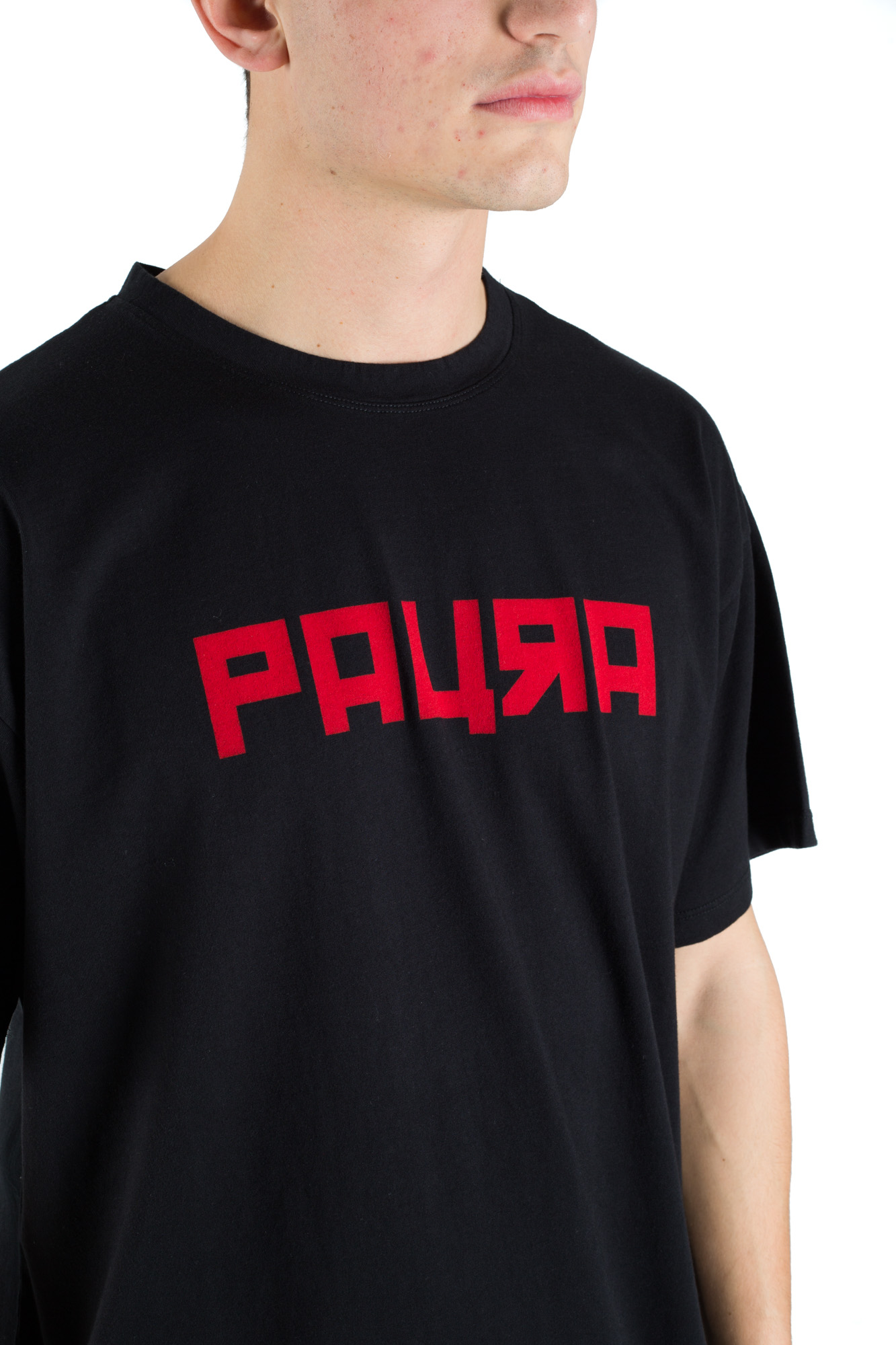 Paura - Oversized T-shirt Black College