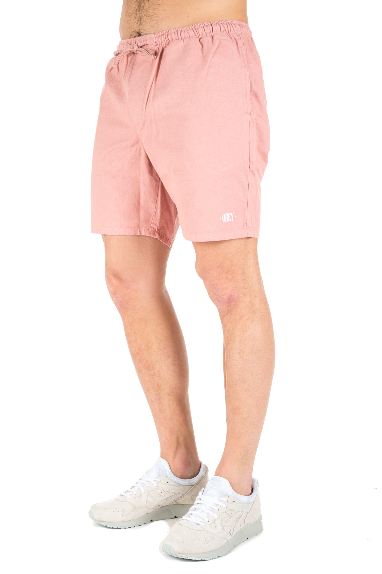 Obey - Elasticated waistband shorts Pink