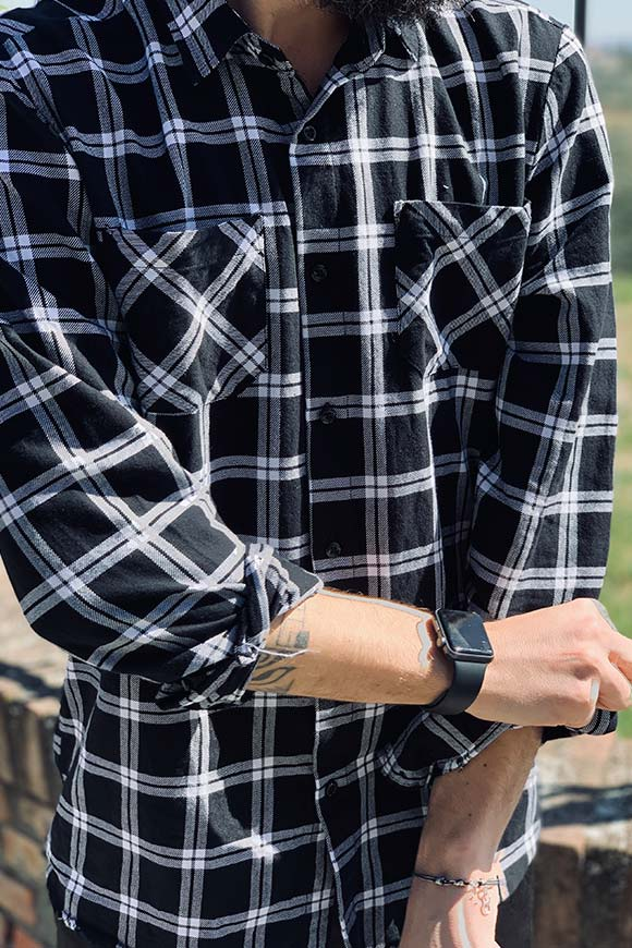 Gianni Lupo - Black and white checkered shirt