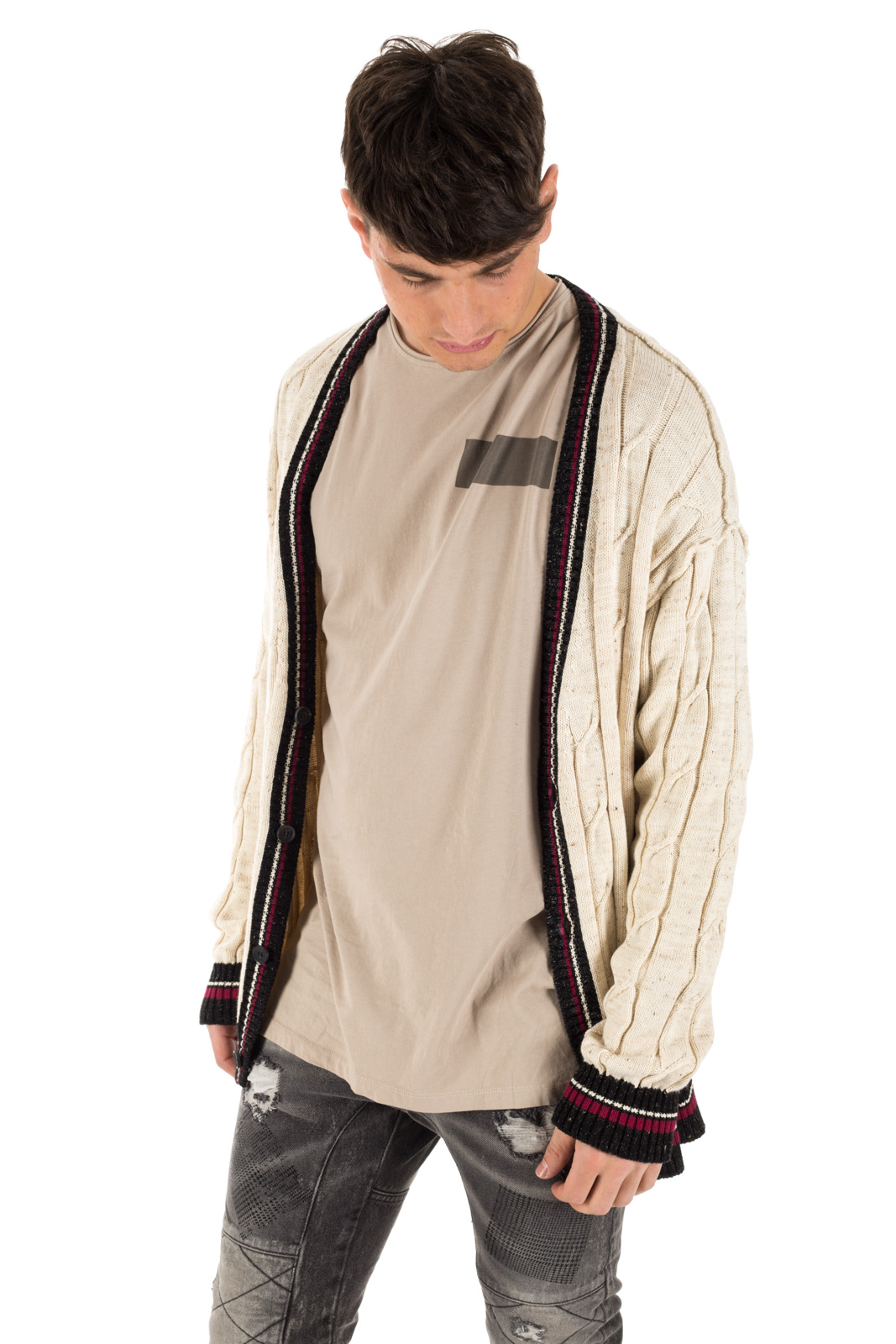 Clap Your Hand - Cardigan tennis a treccia