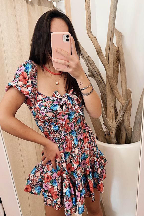 Vicolo - Floral dress with bow