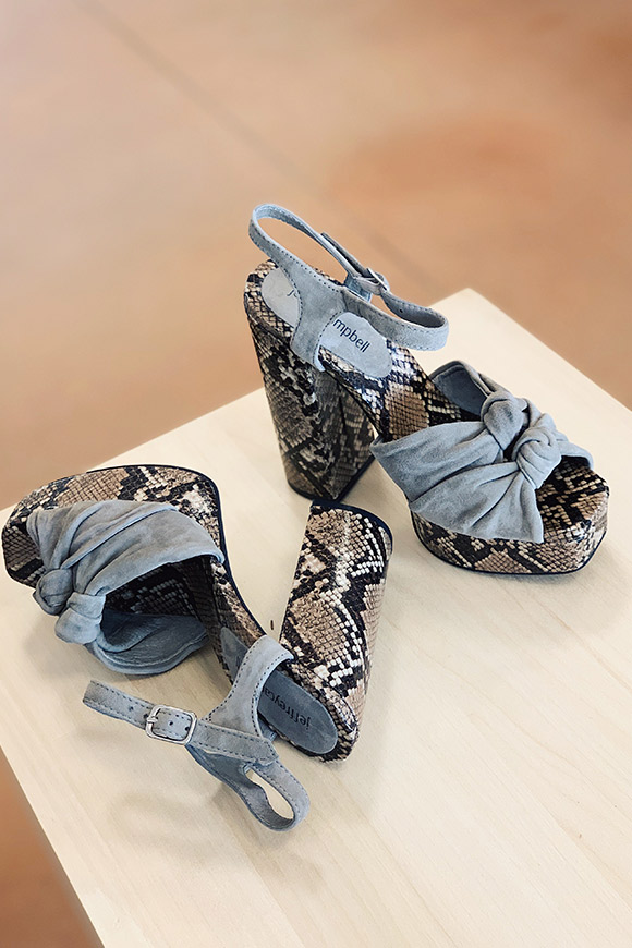 Jeffrey Campbell - Jessa grey python sandals with bows