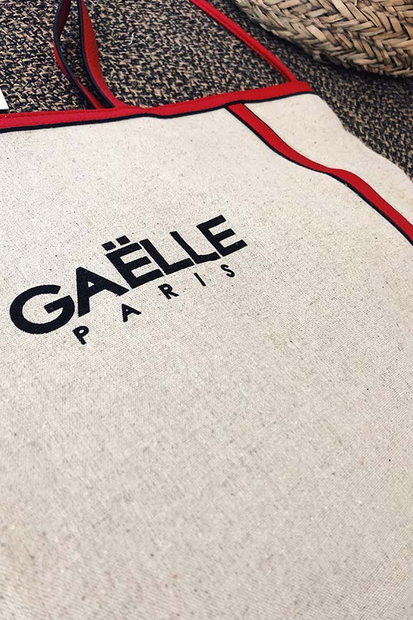 Gaelle - Shopper in tela con logo