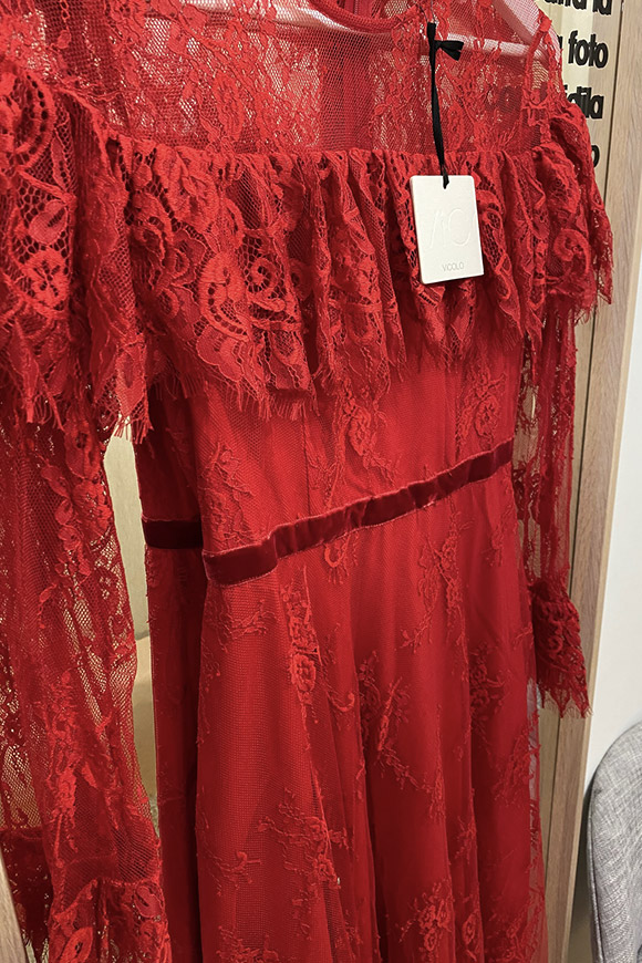 Vicolo - Long red lace dress