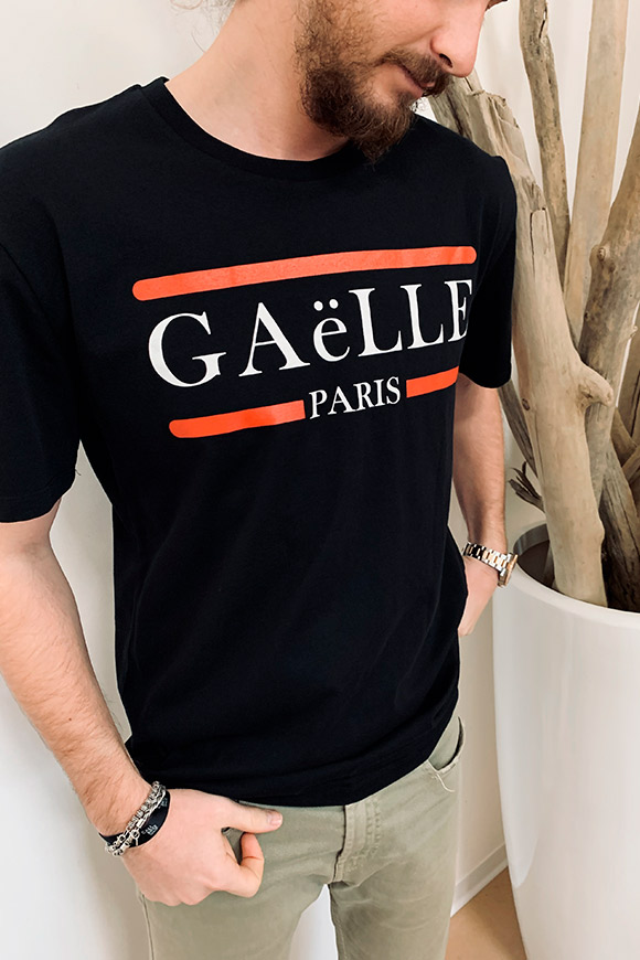 Gaelle - Black T shirt with logo