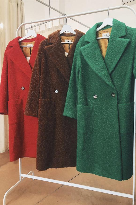 Rosso Bouclé Cappotto Shop Vicolo Lungo Calibro w18qR