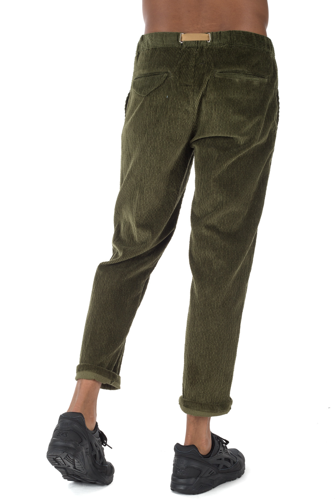 White Sand - Chino Velvet Green Trousers