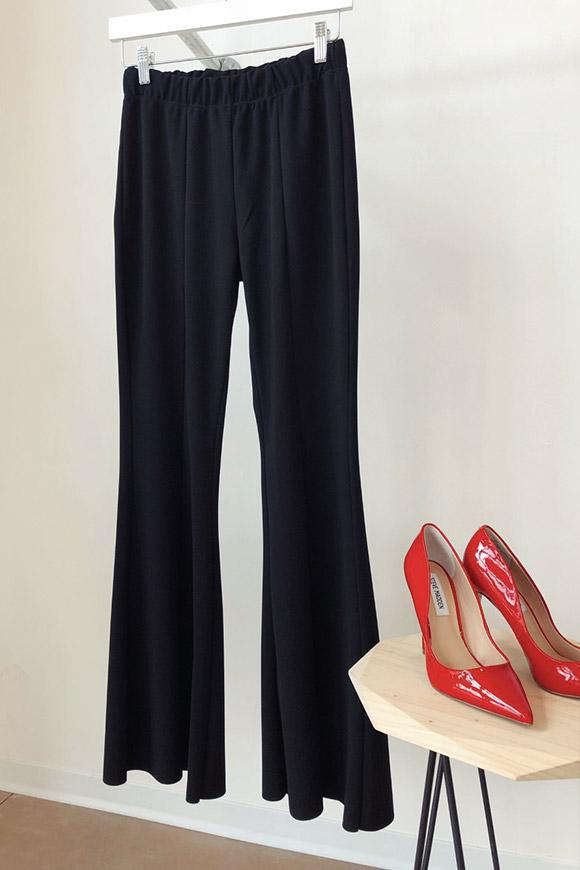 grande vendita 758ca df2b2 Vicolo Pantaloni leggeri a zampa neri - Calibro Shop