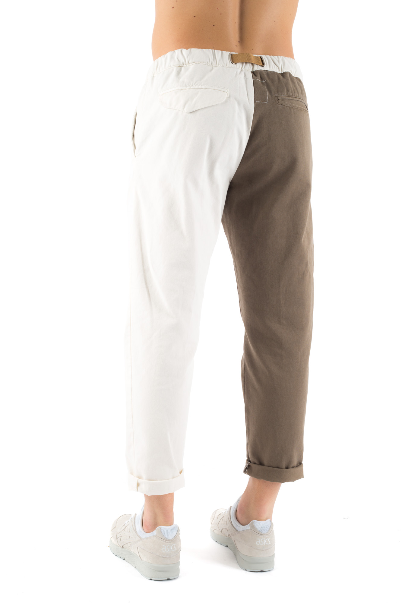 White Sand - Bi-colour baggy trousers