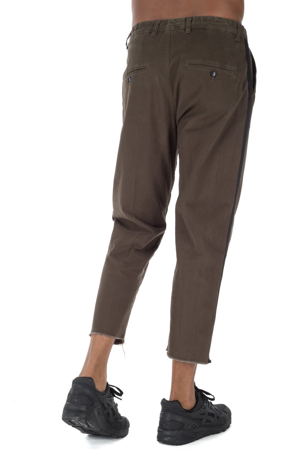 Berna - Green trousers with side band