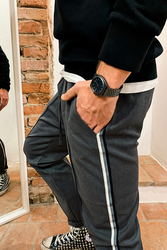 Gianni Lupo - Grey trousers with side bands